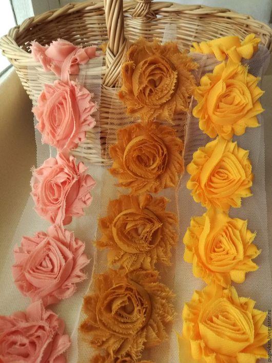 Шитье ручной работы. Ярмарка Мастеров - ручная работа. Купить Трехмерные розы Шебби Шик 6 см  № 5-7. Handmade.