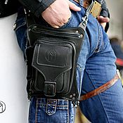 Сумки и аксессуары handmade. Livemaster - original item Travel bag: Leather hip bag