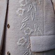 """Одежда handmade. Livemaster - original item Нарядное вышитое пальто """"Пудровое"""" пальто с вышивкой. Handmade."""