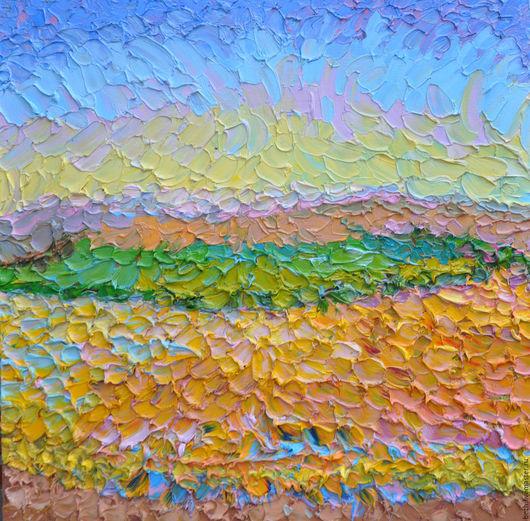 Каждая грань элементов (мазков)  картины в зависимости от освещения и смотрится в разное время суток тоже не одинаково.