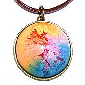 Украшения handmade. Livemaster - original item Pendant round beautiful colorful bright 3 cm. Handmade.