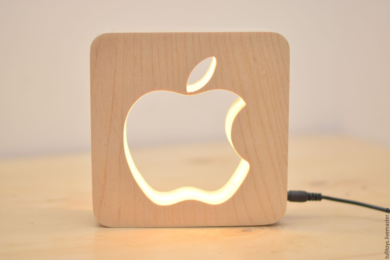 Ночник яблоко своими руками