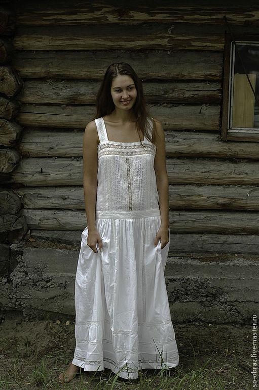 Платья ручной работы. Ярмарка Мастеров - ручная работа. Купить Белое платье в стиле бохо. Handmade. Белый, свадьба