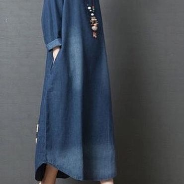 Одежда ручной работы. Ярмарка Мастеров - ручная работа Джинсовое платье. Handmade.
