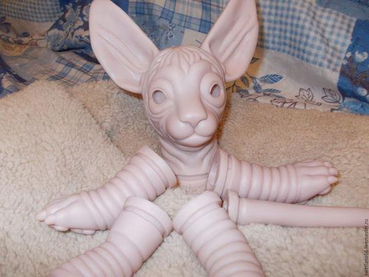 Куклы и игрушки ручной работы. Ярмарка Мастеров - ручная работа. Купить Молд котика сфинкса. Handmade. Бежевый, винил