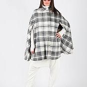 handmade. Livemaster - original item Plaid cashmere coat, Winter Cape coat-CT0708WL. Handmade.