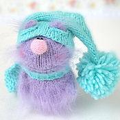 Куклы и игрушки ручной работы. Ярмарка Мастеров - ручная работа Сиреневый котик вязаная игрушка кот амигуруми кот пушистик вязаный. Handmade.