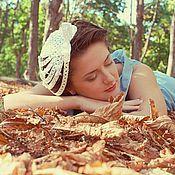 """Аксессуары ручной работы. Ярмарка Мастеров - ручная работа Свадебно-вечерняя шляпка - """"Каприз"""". Handmade."""