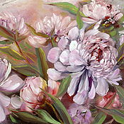Картины и панно handmade. Livemaster - original item Pink peonies oil painting. Handmade.