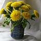 Искусственные растения ручной работы. Ярмарка Мастеров - ручная работа. Купить Одуванчики. Handmade. Желтый, цветы, цветы из полимерной глины