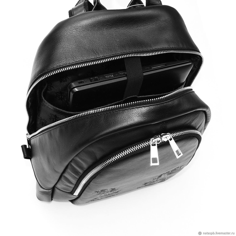 3928b23b8041 ... Рюкзаки ручной работы. Рюкзак черный кожаный женский Виктория. Калиновская  Наталья Рюкзаки Сумки. Ярмарка