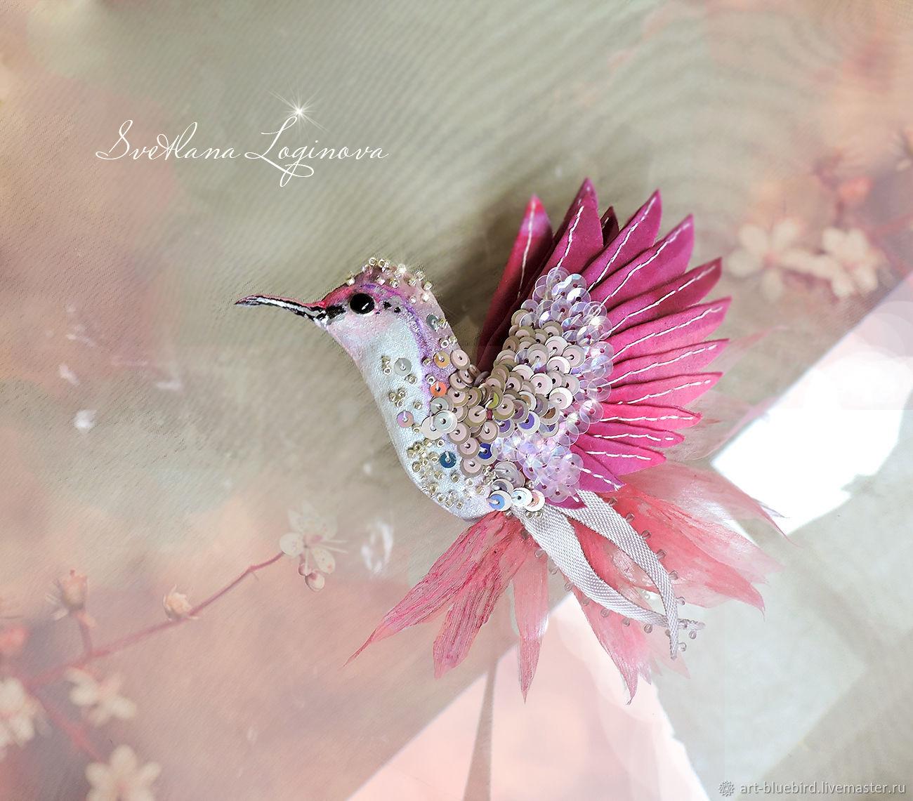 Rose Pearl- брошь Колибри, птичка брошь, Броши, Находка, Фото №1