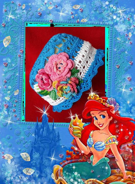 """Шапки и шарфы ручной работы. Ярмарка Мастеров - ручная работа. Купить Панамка """"Летнее небо"""". Handmade. Синий, панамка вязаная"""