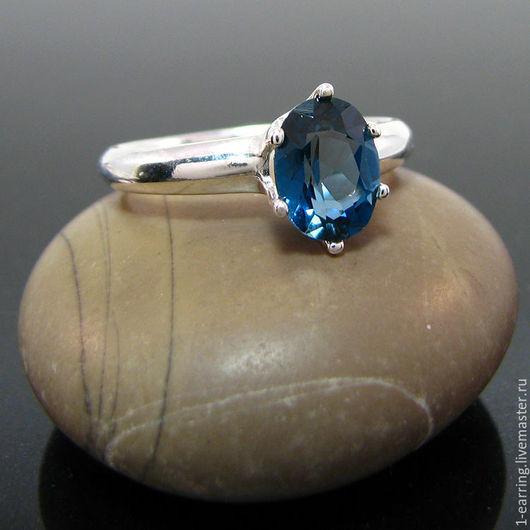 Кольца ручной работы. Ярмарка Мастеров - ручная работа. Купить Топаз Лондон кольцо серебро 8х6 мм. Handmade.
