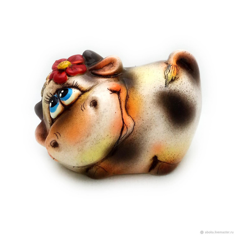 Ceramic figurine ' Flavius the Bull', Year of the Ox, Balashikha,  Фото №1