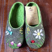 Обувь ручной работы handmade. Livemaster - original item Felted Slippers womens