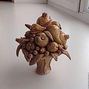 Для дома и интерьера ручной работы. Ярмарка Мастеров - ручная работа Вазочка с фруктами. Handmade.