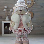 Тильда Зверята ручной работы. Ярмарка Мастеров - ручная работа Вязаный заяц. Handmade.
