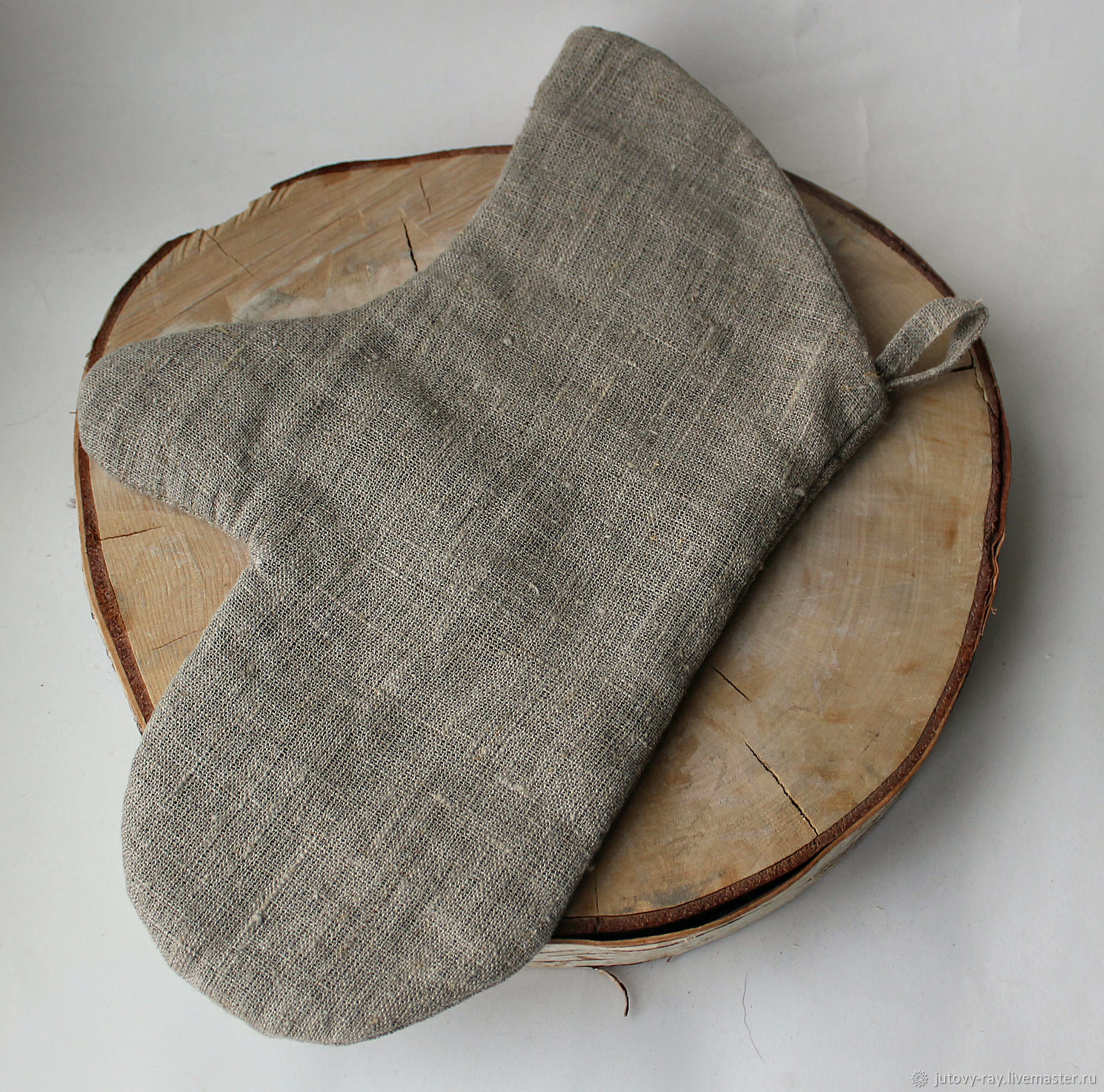 Mitten-a potholder made of linen for the bath, sauna, home, Potholders, Vologda,  Фото №1