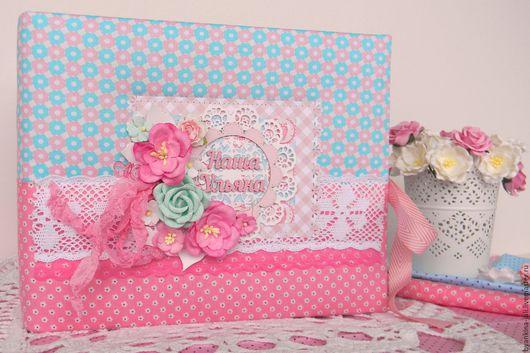 Подарки для новорожденных, ручной работы. Ярмарка Мастеров - ручная работа. Купить Фотоальбом для малышки.. Handmade. Розовый, подарок на день рождения