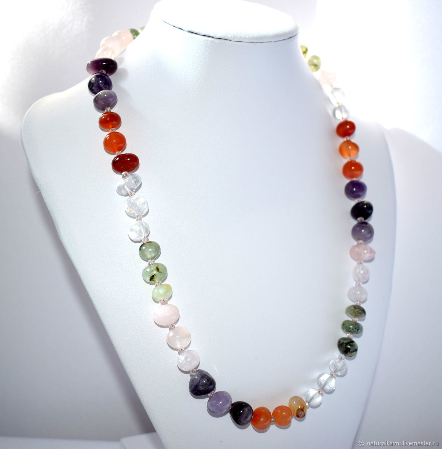 Beads from natural stones (quartz, amethyst, carnelian....) (m), Beads2, Moscow,  Фото №1