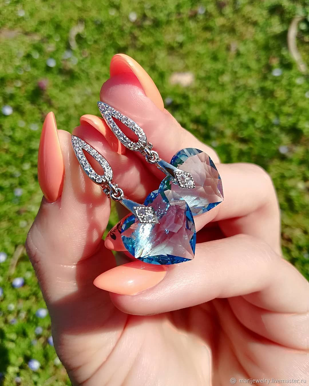 Серьги с кристаллами Swarovski, Аксессуары для питомцев, Майкоп,  Фото №1