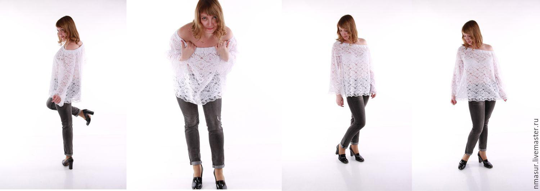 Белая Блузка Из Кружева Купить