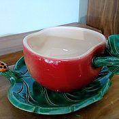 Посуда ручной работы. Ярмарка Мастеров - ручная работа Чайная пара Яблочко. Handmade.