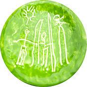 Тарелки ручной работы. Ярмарка Мастеров - ручная работа Керамическая тарелка с детским рисунком. Handmade.
