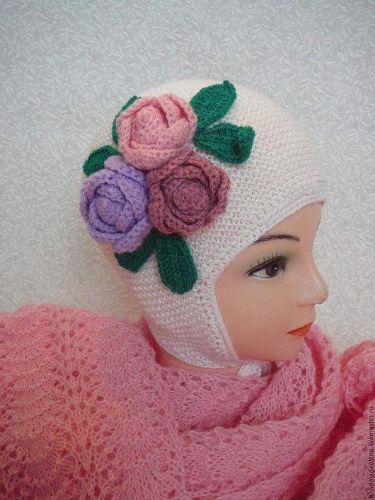 шапочка вязаная, шапка для девочки