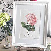 """Картины и панно ручной работы. Ярмарка Мастеров - ручная работа Картина """"розовая гортензия"""". Handmade."""