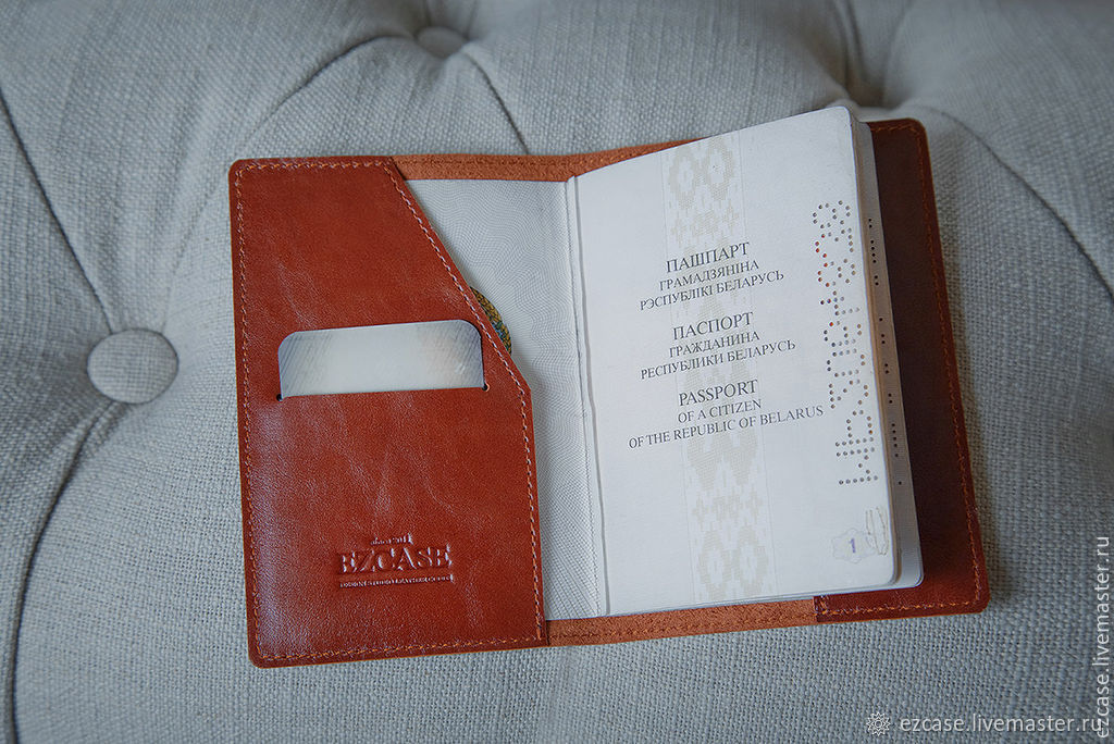 Passport cover made of genuine leather / Buy handmade leather, Passport cover, Moscow,  Фото №1