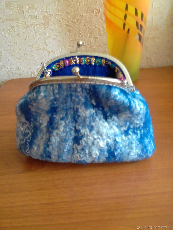 Валяная сумочка с фермуаром, Женские сумки, Белгород, Фото №1