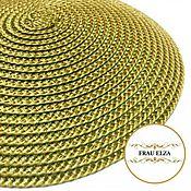 Основа для шляпки (14 см) оливково-бежевая