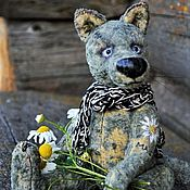 Куклы и игрушки handmade. Livemaster - original item Romashkina love...(collectible toy Teddy wolf). Handmade.