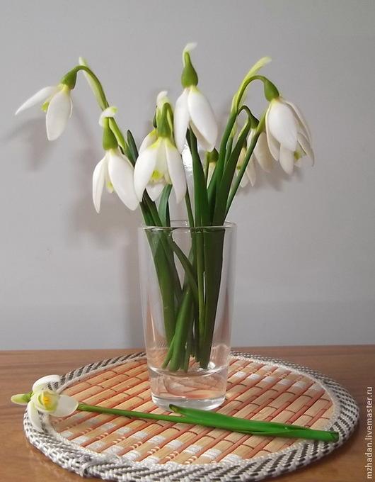 Подснежники, подснежники ручной работы,реалистичные цветы