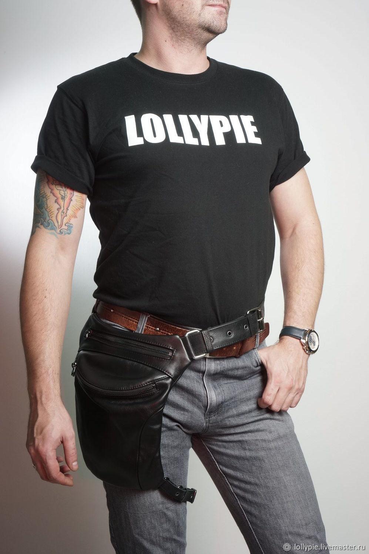 Leather Hip Belt Bag, Classic Bag, Moscow,  Фото №1