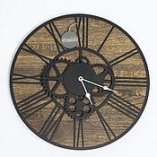 Часы классические ручной работы. Ярмарка Мастеров - ручная работа Часы настенные в стиле лофт №2. Handmade.