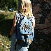 handmade. Livemaster - original item Backpack denim Oseni. Handmade.