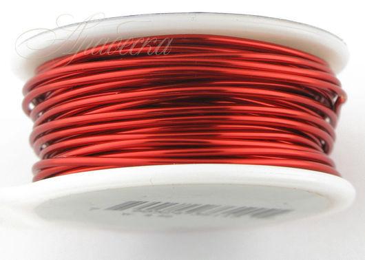 Проволока медная красного цвета 1.02мм (18ga) 6.4м/упак BEADSMITH (США)