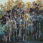 """Картины и панно handmade. Livemaster - original item """"Осенний лес """". Картина пейзаж маслом. Handmade."""