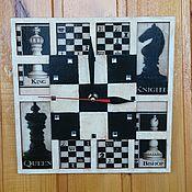 """Часы ручной работы. Ярмарка Мастеров - ручная работа Часы """"Шахматы"""". Handmade."""