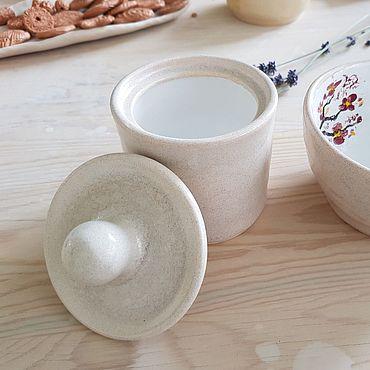 Посуда ручной работы. Ярмарка Мастеров - ручная работа Сахарница или банка для сыпучих. Handmade.