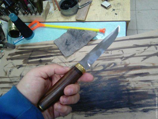 Оружие ручной работы. Ярмарка Мастеров - ручная работа. Купить Финка с бочковатой ручкой. Handmade. Серебряный, нож в подарок