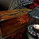 """Шкатулки ручной работы. Ярмарка Мастеров - ручная работа. Купить Шкатулка книга """" Счастье """". Handmade. Коричневый, девушка"""