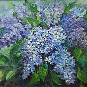 Картины и панно handmade. Livemaster - original item Oil painting of lilacs, a bouquet of lilacs on canvas, picture in a frame. Handmade.