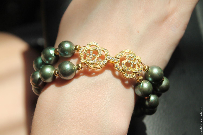 Bracelet 'Green', Bead bracelet, Nizhny Novgorod,  Фото №1