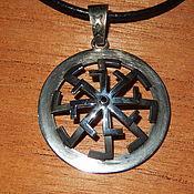 Pendants handmade. Livemaster - original item Amulet silver Octagonal Kolovrat. Handmade.