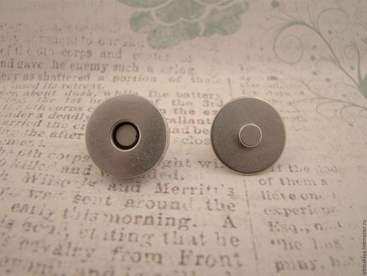 Шитье ручной работы. Ярмарка Мастеров - ручная работа. Купить Магнитная кнопка 18 мм никель. Handmade. Серебряный