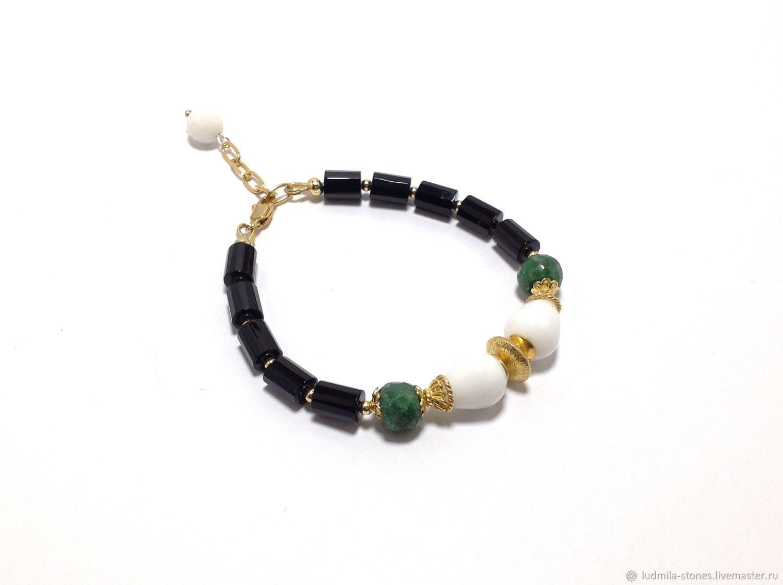 """Позолоченный браслет """"Летняя полночь"""", Bead bracelet, Moscow,  Фото №1"""